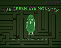 The Green Eye Monster - Maze Game UI-UX Design Mockup