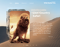 Safari Site landing clean and modern adaptive design