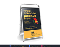 Free PSD - Road Standee Mockup Download