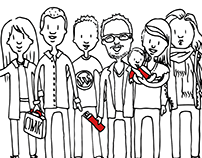 Stage groeps illustratie