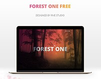 Free Forest One Page PSD Template
