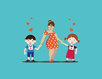 illustration for children's club