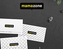 Corporate Identity design for Mamazone records 2008