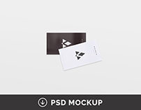 8 Free Clean Business Card Mockups Part #2 | PSD