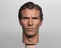 1/6 Christian Bale Head Sculpt Painting