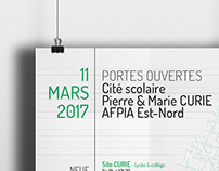 Poster - Affiche JPO de lycée
