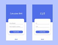BMI Calculator App Concept