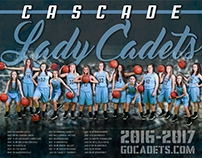 Cascade Girls Basketball Schedule Poster
