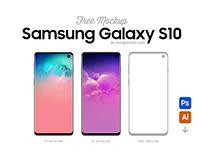 Free Samsung Galaxy S10 Mockup PSD & Ai