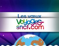 // DA + Webdesign // Mini-site les Voeux Voyages SNCF
