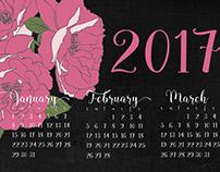 2017 Calendar of Roses