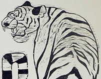 Tiger Woodcut