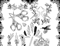 Tattoo Sticker Flash Sheet