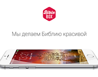 """Bible typographics for smartphones """"BIBLEBOX"""""""