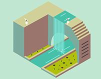Minimal Isometric Illustrations