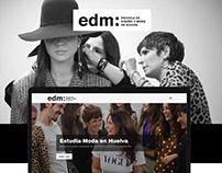 Proyecto Web Site: Escuela de Diseño y Moda de Huelva