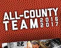 All County Girls Basketball Team Posters
