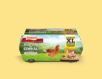 Huevos de corral XL. Extra-grandes.
