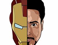 Iron man vector art