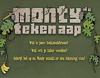 """Snelteken-act """"Monty de Teken-aap"""""""