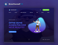"""Web Design for """"Brave yourself"""""""