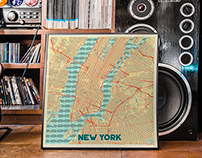 Retro Style Map Posters