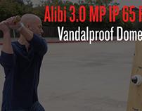 IP 3.0 MP Vandalproof Dome Security Camera Bat Test