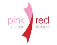 Pink Ribbon Red Ribbon Branding