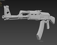 AK-47 Kalashnikov High Poly