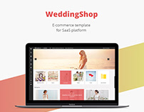 Wedding shop/E-commerce template/Web design/UI/UX