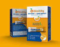 Brand design and packaging for BeHealty Vitamin C + Zn