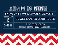 Party Invite - Adam