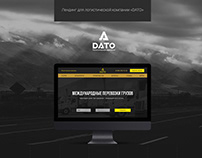 Landing page for logististics company DATO