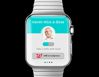 Apple Watch UX/UI - Never miss a pill