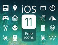 iOS11 Free icons