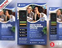 Mobile Application Promotion Flyer PSD Template