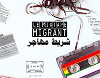 """""""Le Mixtape migrant"""" poster."""