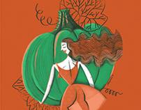 Illustration Pumpkin Lady