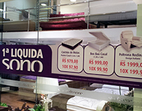 Promotional materials for a mattress store