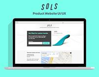 SOLS Product Website UI/UX