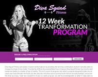 Diva Squad Fitness Landing page ~ Webfolio