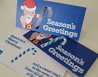 Studio Digital 2011 candy cane Christmas card
