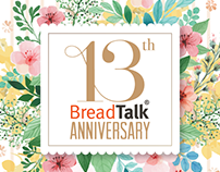 BreadTalk 13th Anniversary Invitation Design