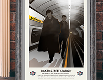 Movie Inspired Travel Poster Series (Sherlock)