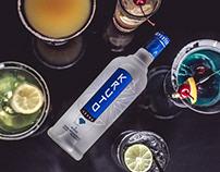 "Laconic design of vodka ""Kruto"""