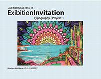 Exhibition Invitation TYPOGRAPHY