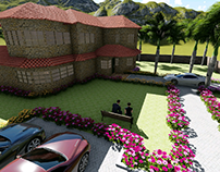 3D Architecture spanish home