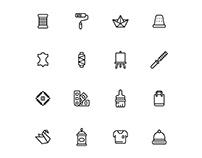Handcrafts Icons Set
