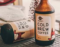 Monks Cold Brew Coffee Label   Illustration