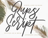 Rups Script Brush Font
